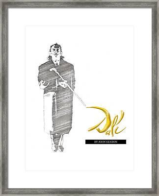 Dali Book Cover Framed Print by John Keaton