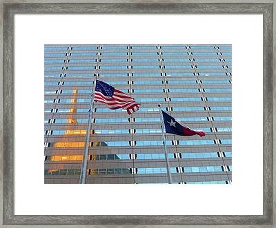 Dallas 3 Of 5 Lone Star Framed Print by Tina M Wenger