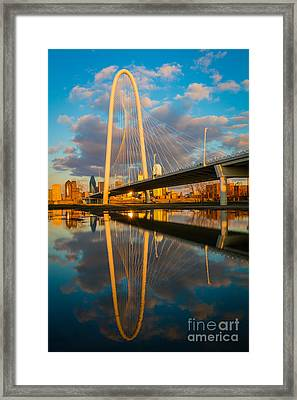 Dallas Afternoon Clouds Framed Print by Inge Johnsson