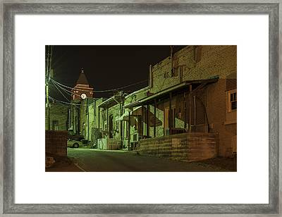 Dallas Alley Framed Print by Robert Myers