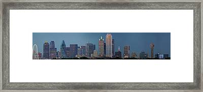 Framed Print featuring the photograph Dallas At Night by Jonathan Davison
