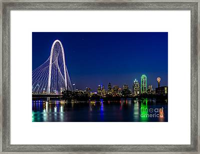 Dallas At Night Framed Print by Tamyra Ayles