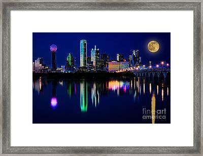 Dallas At Twilight Framed Print by Tamyra Ayles