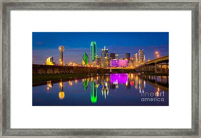 Dallas Between The Bridges Framed Print by Inge Johnsson