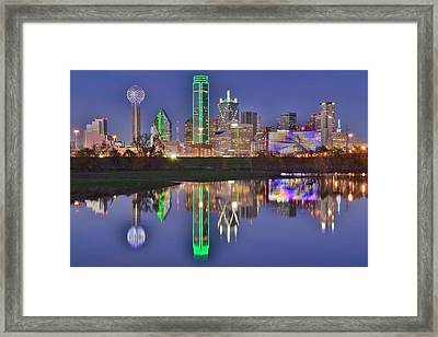Dallas Blue Hour Framed Print by Frozen in Time Fine Art Photography