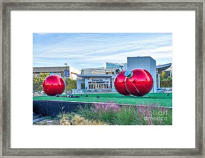 Dallas Christmas Ornaments Framed Print by Tod and Cynthia Grubbs