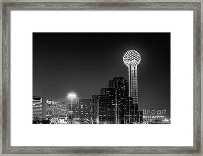 Dallas City At Night Framed Print by Tod and Cynthia Grubbs