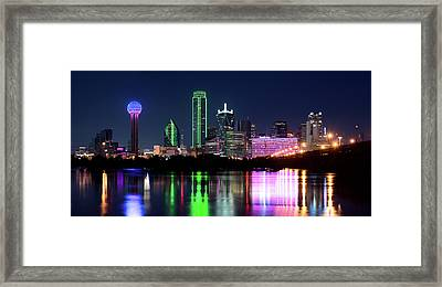 Dallas Colorful Night 52716 Framed Print