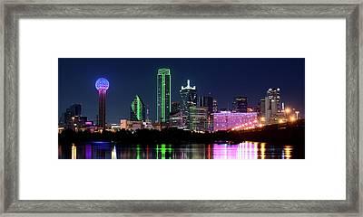Dallas Colors Pano 2015 Framed Print