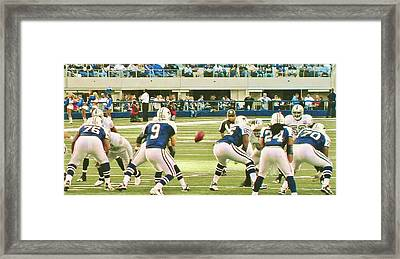 Dallas Cowboys And Quarterback #9 Tony Romo Framed Print by Donna Wilson