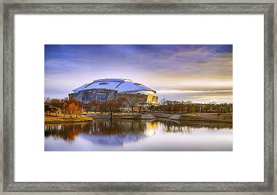Dallas Cowboys Stadium Arlington Texas Framed Print by Robert Bellomy