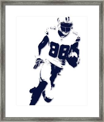 Dallas Cowboys Dez Bryant Framed Print by Joe Hamilton