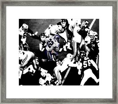 Dallas Cowboys Emmitt Smith Framed Print by Brian Reaves