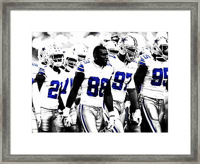 Dallas Cowboys Here We Come Framed Print by Brian Reaves