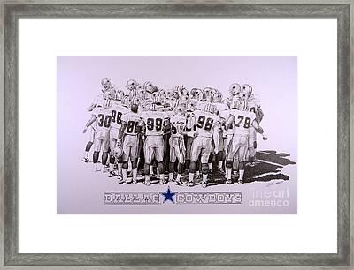 Dallas Cowboys Framed Print by Shawn Stallings