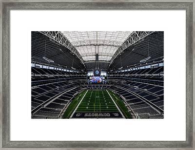 Dallas Cowboys Stadium End Zone Framed Print