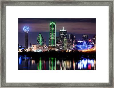 Dallas Cowboys Star Skyline Framed Print