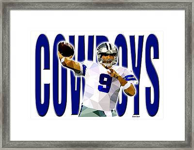 Framed Print featuring the digital art Dallas Cowboys by Stephen Younts