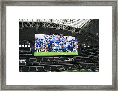 Dallas Cowboys Take The Field Framed Print by Craig David Morrison