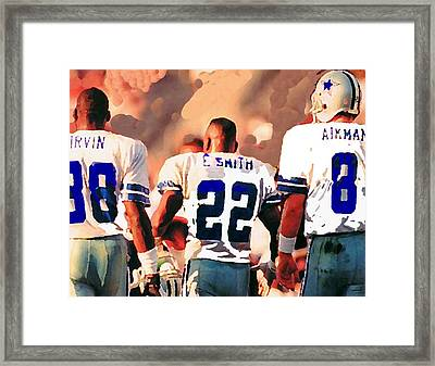 Dallas Cowboys Triplets Framed Print