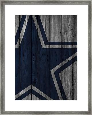 Dallas Cowboys Wood Fence Framed Print