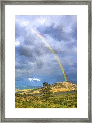 Dallas Divide Rainbow II Framed Print