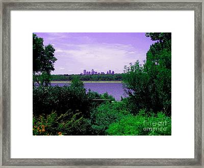 Framed Print featuring the photograph Dallas From The Park by Robert D McBain