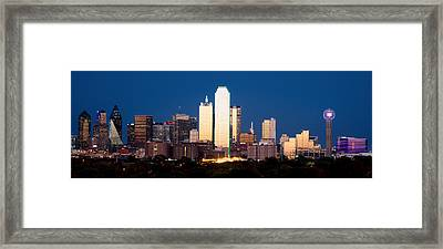 Dallas Golden Pano Framed Print