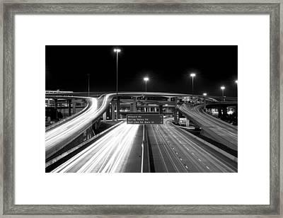 Dallas High Five Bw Framed Print