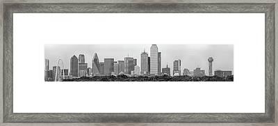 Dallas In Black And White Framed Print by Jonathan Davison