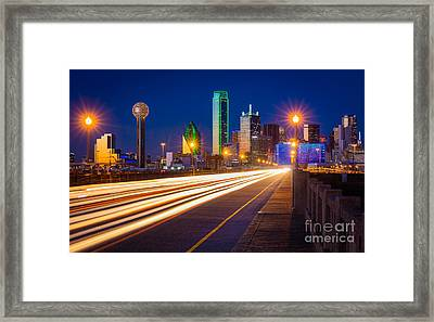 Dallas Lights Framed Print