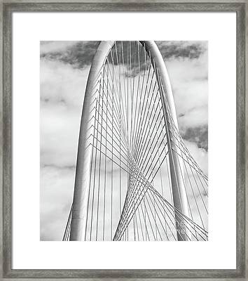 Dallas Margaret Hunt Hill Bw Framed Print by Tod and Cynthia Grubbs
