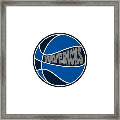 Dallas Mavericks Retro Shirt Framed Print