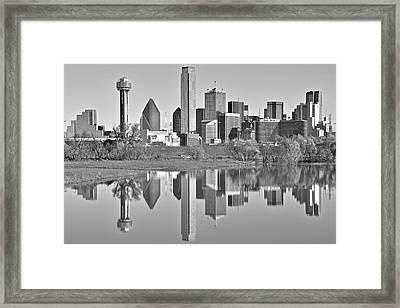 Dallas Monochrome Framed Print