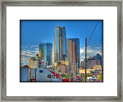 Framed Print featuring the photograph Dallas Morning Skyline by Farol Tomson