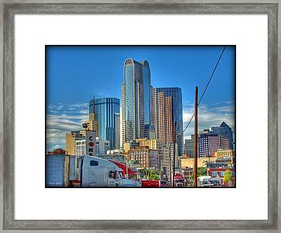 Dallas Morning Skyline Framed Print by Farol Tomson