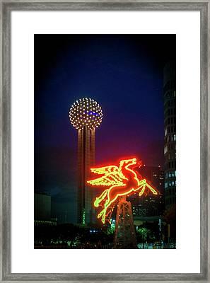 Dallas Pegasus Framed Print by Art Spectrum