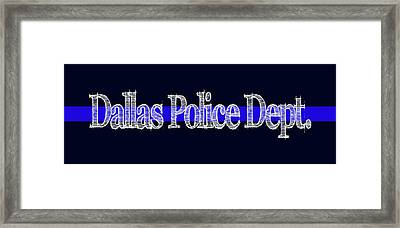 Dallas Police Dept. Blue Line Mug Framed Print