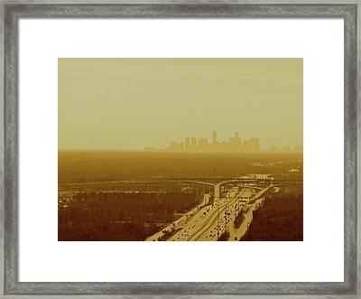 Dallas Sky Framed Print by Katie Ransbottom