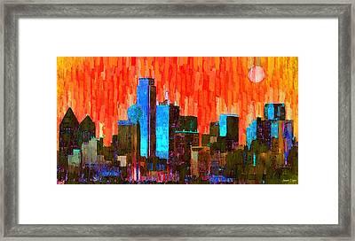 Dallas Skyline 61 - Pa Framed Print