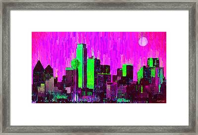 Dallas Skyline 64 - Da Framed Print by Leonardo Digenio