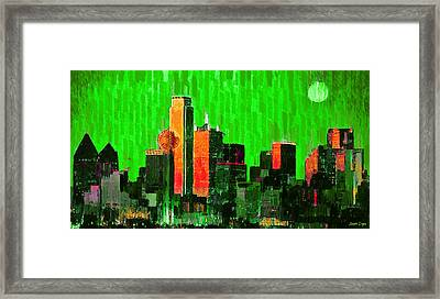 Dallas Skyline 67 - Da Framed Print by Leonardo Digenio