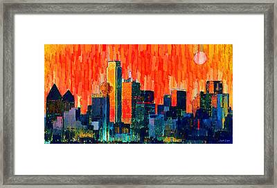 Dallas Skyline 68 - Da Framed Print by Leonardo Digenio