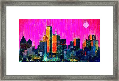 Dallas Skyline 70 - Pa Framed Print by Leonardo Digenio
