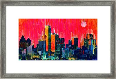 Dallas Skyline 71 - Da Framed Print by Leonardo Digenio