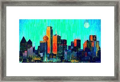 Dallas Skyline 74 - Pa Framed Print by Leonardo Digenio