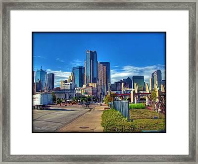 Dallas Skyline Framed Print by Farol Tomson