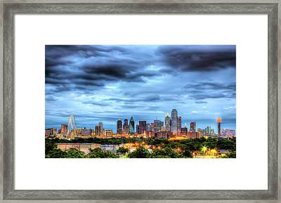 Dallas Skyline Framed Print