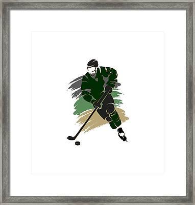 Dallas Stars Player Shirt Framed Print by Joe Hamilton