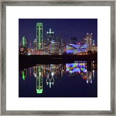 Framed Print featuring the photograph Dallas Texas Squared by Frozen in Time Fine Art Photography